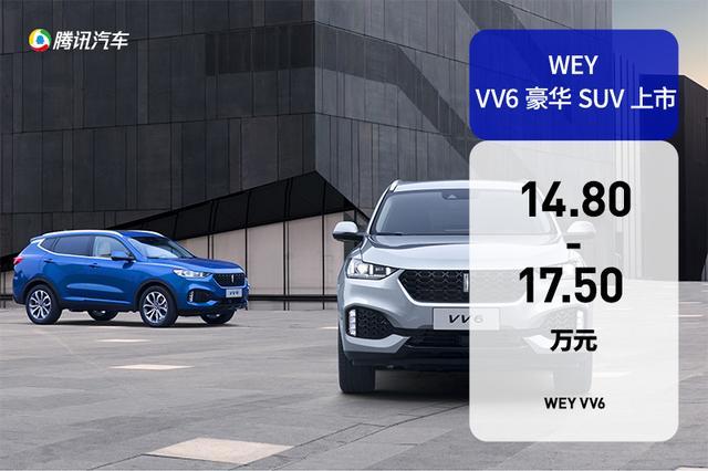 WEY VV6售14.8-17.5万元 领克01劲敌到来